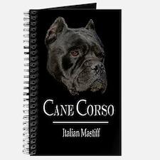 Handsome Black Cane Corso Journal