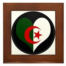 i heart algeria Framed Tile