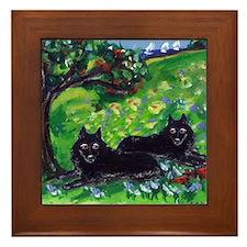 Schipperke Summer Season dog  Framed Tile