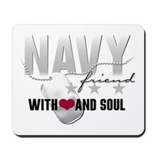 Navy Friend - With Heart and Mousepad