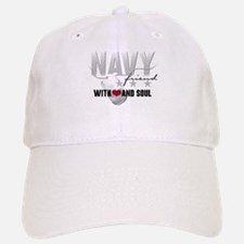 Navy Friend - With Heart and Baseball Baseball Cap