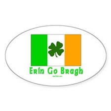 Erin Go Bragh Irish Oval Decal