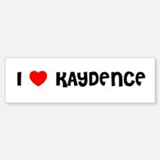 I LOVE KAYDENCE Bumper Car Car Sticker