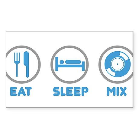 Eat Sleep Mix Again Rectangle Sticker