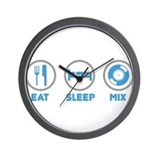 Eat Sleep Mix Again Wall Clock