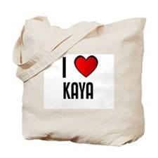 I LOVE KAYA Tote Bag