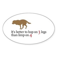 Better to hop . . . Oval Decal