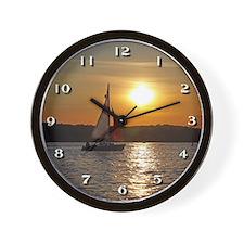 Sunset Sailboat Cruise Wall Clock