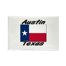 Austin Texas Rectangle Magnet