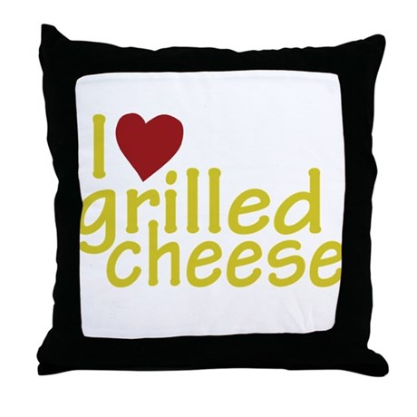 I Love Grilled Cheese Throw Pillow