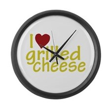 I Love Grilled Cheese Large Wall Clock