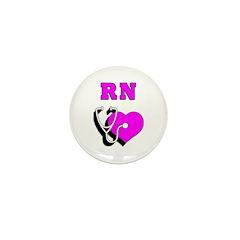 RN Nurses Care Mini Button (100 pack)