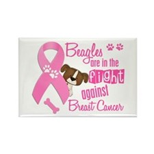 Beagles Against Breast Cancer 2 Rectangle Magnet