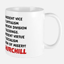 """Churchill: Socialism Is Misery!"" Mug"