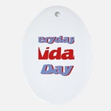 Everyday is Aidan Day Oval Ornament