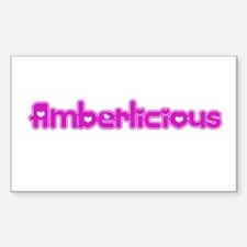 Amberlicious Rectangle Decal