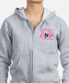 Border Collies Against Breast Cancer 2 Zip Hoodie