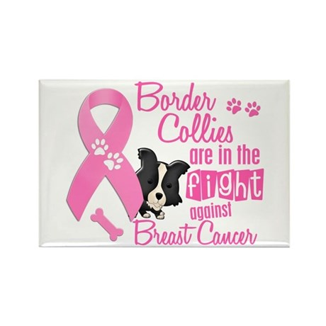 Border Collies Against Breast Cancer 2 Rectangle M