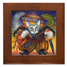 Capitán Tito Gato de Habana Framed Tile