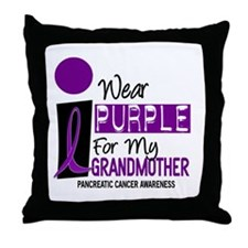 I Wear Purple For My Grandmother 9 PC Throw Pillow
