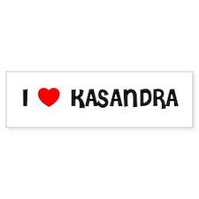 I LOVE KASANDRA Bumper Bumper Sticker