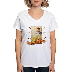 Musical Happy Easter Women's V-Neck T-Shirt