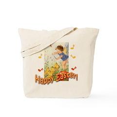 Musical Happy Easter Tote Bag
