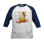 Musical Happy Easter Kids Baseball Jersey
