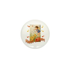 Musical Happy Easter Mini Button (100 pack)