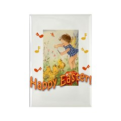 Musical Happy Easter Rectangle Magnet