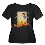 Musical Happy Easter Women's Plus Size Scoop Neck