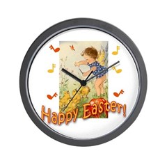 Musical Happy Easter Wall Clock