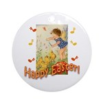 Musical Happy Easter Ornament (Round)