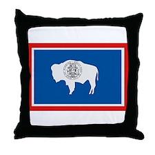 Beloved Wyoming Flag Modern S Throw Pillow