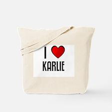 I LOVE KARLIE Tote Bag