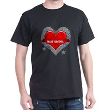 My Heart West Virginia Vector T-Shirt
