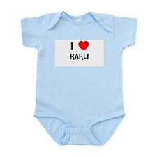 I LOVE KARLI Infant Creeper