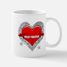 My Heart West Virginia Vector Mug