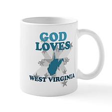 God Loves West Virginia Mug