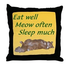 Roscoe Eat Well Throw Pillow