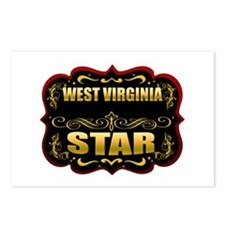 West Virginia Star Gold Badge Postcards (Package o