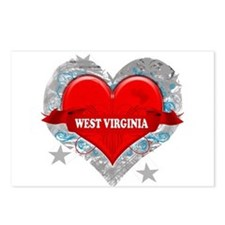 My Heart West Virginia Vector Postcards (Package o
