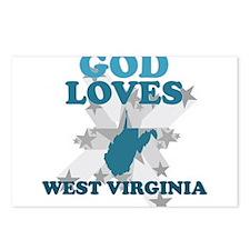 God Loves West Virginia Postcards (Package of 8)