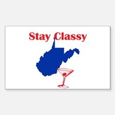 Stay Classy West Virginia Rectangle Decal