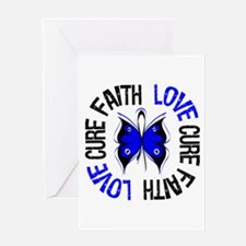 Colon Cancer Faith Greeting Card