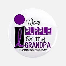 """I Wear Purple For My Grandpa 9 PC 3.5"""" Button"""