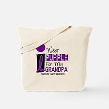 I Wear Purple For My Grandpa 9 PC Tote Bag