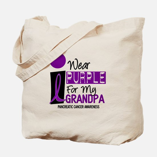 I Wear Purple For My Grandpa 9 PC Tote Bag