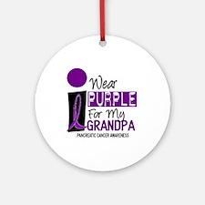 I Wear Purple For My Grandpa 9 PC Ornament (Round)