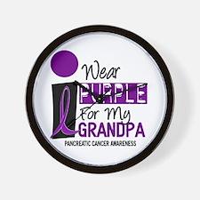 I Wear Purple For My Grandpa 9 PC Wall Clock
